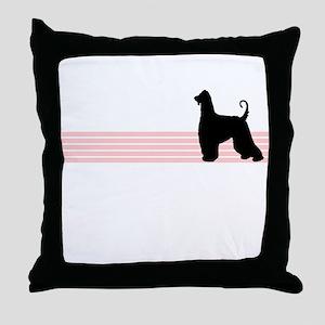 Retro Afghan Hound Throw Pillow