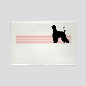 Retro Afghan Hound Rectangle Magnet