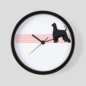 Retro Afghan Hound Wall Clock