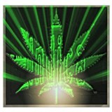 Cannabis art Wrapped Canvas Art