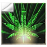 Cannabis art Wall Decals