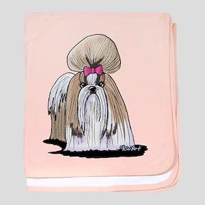 KiniArt Shih Tzu Show Girl baby blanket