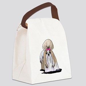 KiniArt Shih Tzu Show Girl Canvas Lunch Bag