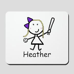 Softball - Heather Mousepad