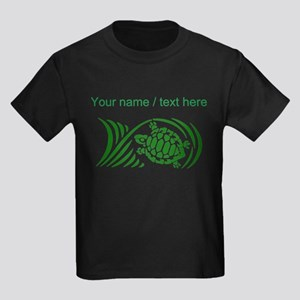 Personalized Green Sea Turtle Design T-Shirt