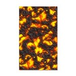 Hot Lava 35x21 Wall Decal