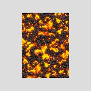 Hot Lava 5'x7'Area Rug