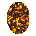 Hot Lava Ornament (Oval)