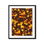 Hot Lava Framed Panel Print