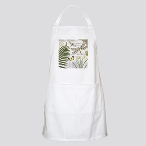 Vintage French dragonflies Apron