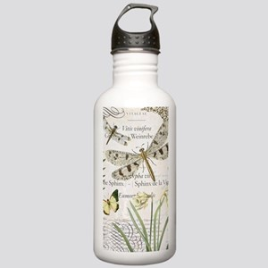 Vintage French dragonflies Water Bottle