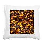 Hot Lava Square Canvas Pillow