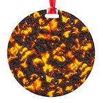 Hot Lava Round Ornament