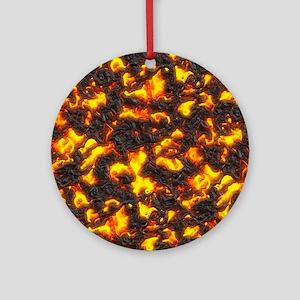 Hot Lava Ornament (Round)