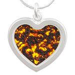 Hot Lava Silver Heart Necklace