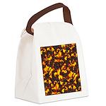 Hot Lava Canvas Lunch Bag