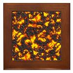 Hot Lava Framed Tile