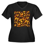 Hot Lava Women's Plus Size V-Neck Dark T-Shirt