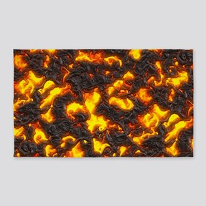 Hot Lava 3'x5' Area Rug
