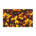 Hot Lava Rectangle Car Magnet