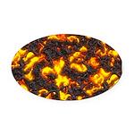 Hot Lava Oval Car Magnet