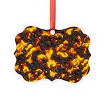 Hot Lava Picture Ornament