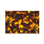 Hot Lava Rectangle Magnet (10 pack)