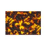 Hot Lava Rectangle Magnet