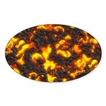 Hot Lava Sticker (Oval 10 pk)