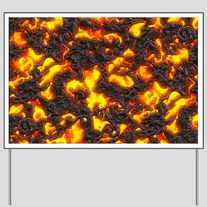 Hot Lava Yard Sign