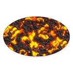 Hot Lava Sticker (Oval)