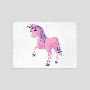 Pink Unicorn 5'x7'Area Rug