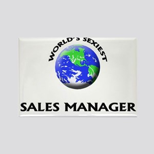 World's Sexiest Sales Manager Rectangle Magnet