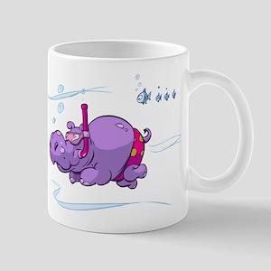 Snorkeling Hippo Mug