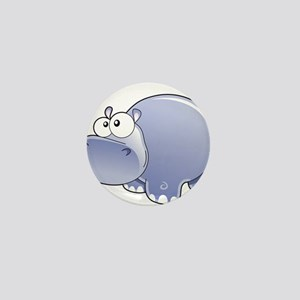 Happy Hippo Mini Button