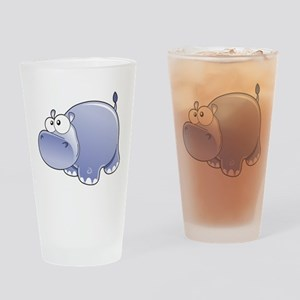 Happy Hippo Drinking Glass