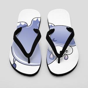 Happy Hippo Flip Flops
