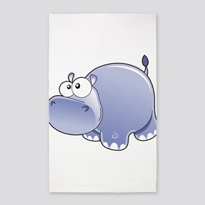Happy Hippo 3'x5' Area Rug