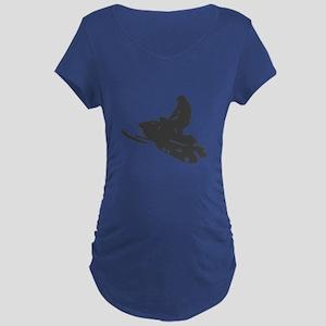 Snowmobile - Snowmobiling Maternity Dark T-Shirt