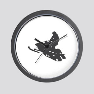 Snowmobile - Snowmobiling Wall Clock