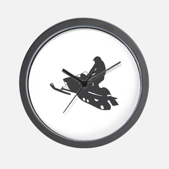 Snowmobile - Snowmobiling Wall Clock