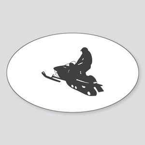 Snowmobile - Snowmobiling Sticker (Oval)