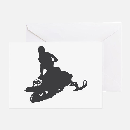Snowmobile - Snowmobiling Greeting Card