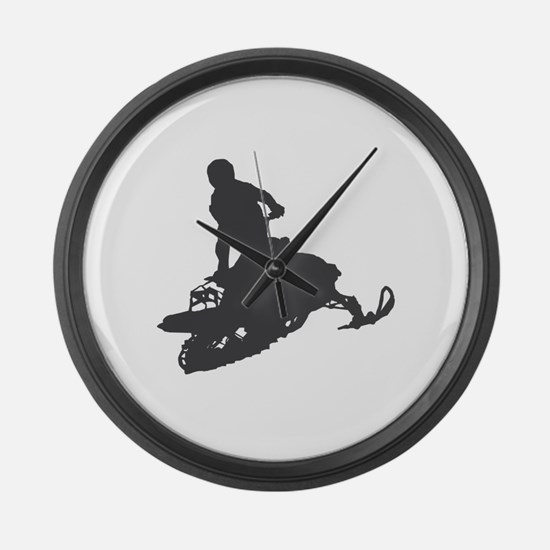 Snowmobile - Snowmobiling Large Wall Clock