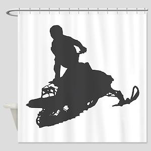 Snowmobile - Snowmobiling Shower Curtain