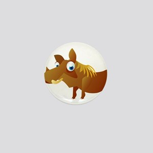 Cartoon Warthog Mini Button