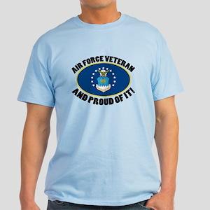 Proud Air Force Veteran Light T-Shirt