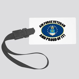 Proud Air Force Veteran Large Luggage Tag