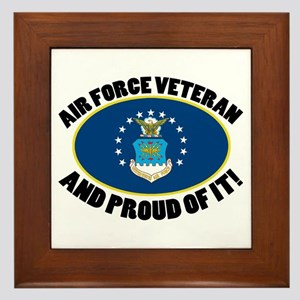 Proud Air Force Veteran Framed Tile