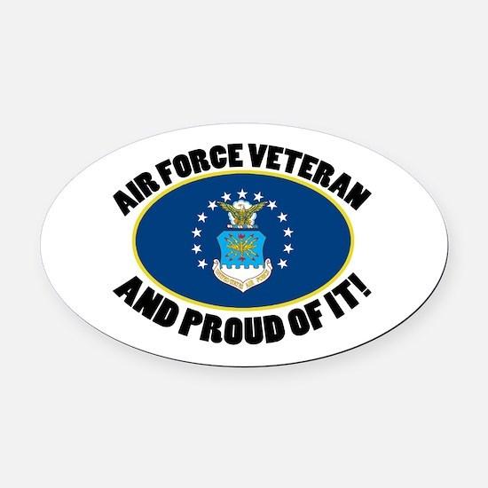 Proud Air Force Veteran Oval Car Magnet